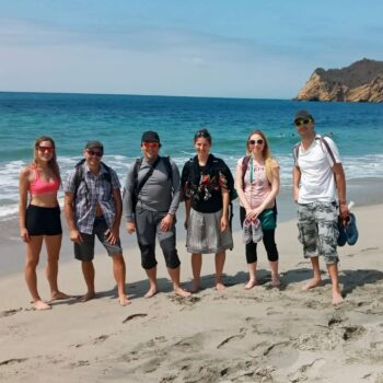 naše první skupinka v Ekvádoru